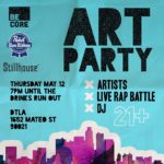 Less than 48 hours until the BeCoreArtParty! 14 artists 3hellip