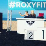 Rocking out at roxy fitness for runsupyoga in HuntingtonBeach yogahellip