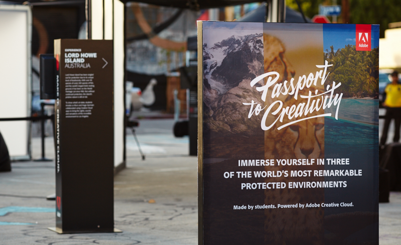 Adobe Passport to Creativity - Los Angeles Arts District - Experiential Marketing - Brand Activation - Marketing Agency - Adobe
