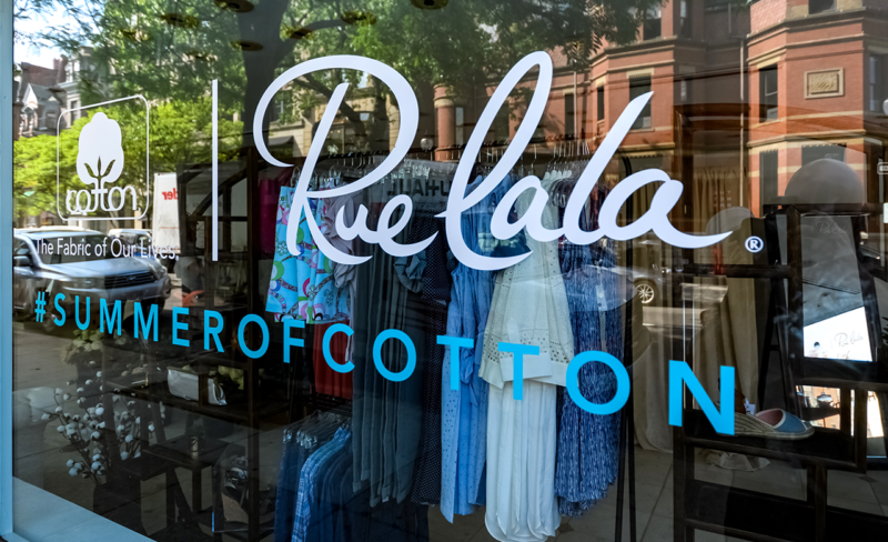Cotton Rue La La - Experiential Marketing Agency based in Los Angeles, Created this unique pop-up shop brand activation for Rue La La and Cotton.
