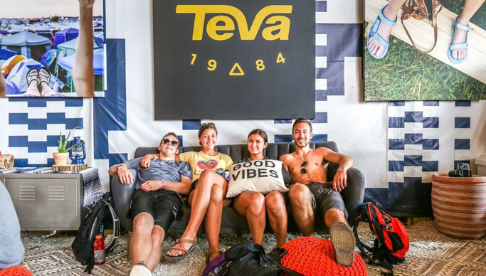 Photo from the Teva 2015 Experiential Marketing Activation at Bonnaroo Music Festival in Manchester, TN.