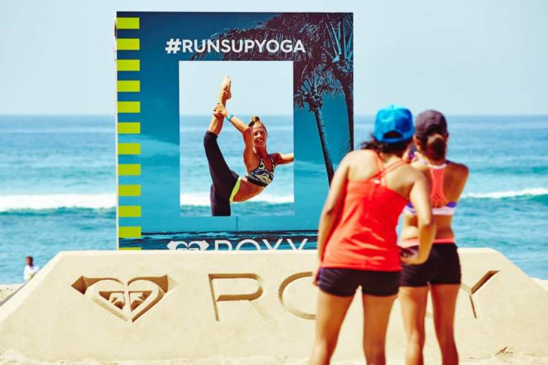 Roxy Run Sup Yoga Experiential Marketing Pop-Up Shop Activation