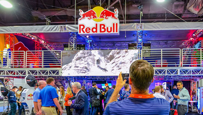 Experiential Activation for Red Bull at the NACS Convention in Atlanta, Georgia