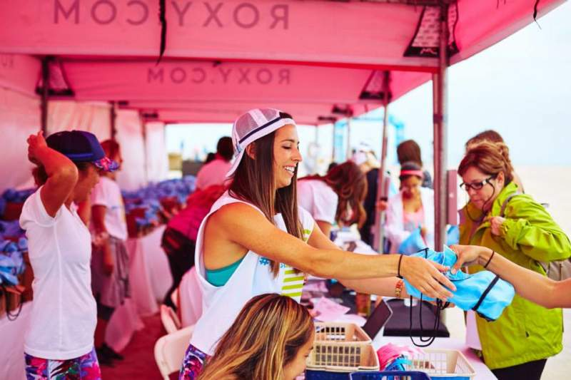 Experiential Marketing with Generation Z and Roxy in Huntington Beach, California