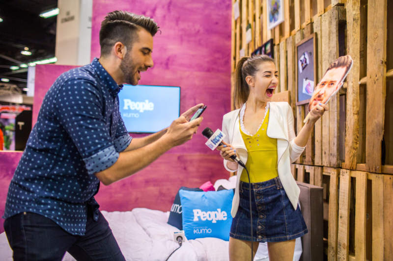 generation gets experiential with xumo at vidcon
