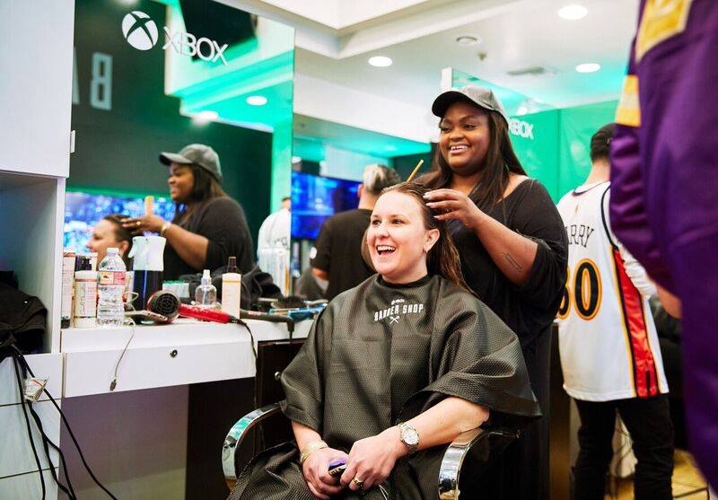Microsoft XBOX Barbershop - NBA All-Star Weekend Experiential marketing agency based in Los Angeles, California